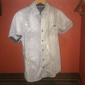 Striped button down shirt by Blackjack